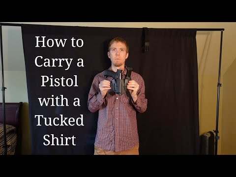 Two Ways to Carry a Pistol with a Tucked Shirt
